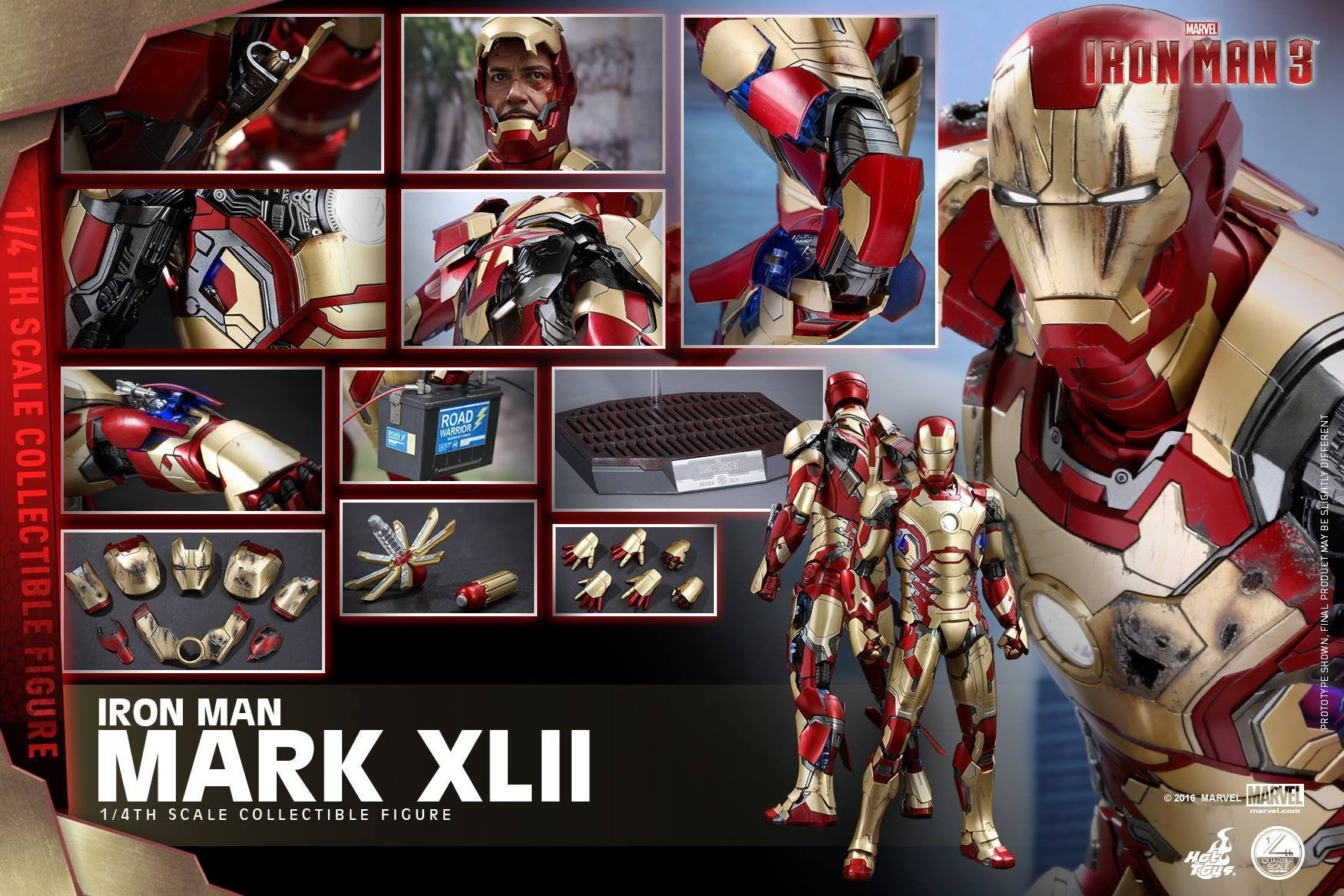 Hot Toys - QS007 - Iron Man 3 - 1/4th scale Mark XLII - Marvelous Toys - 16