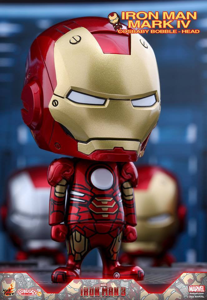 Hot Toys - COSB261-267 - Iron Man 3 - Iron Man Mark I-VII Cosbaby Bobble-Head Series Collectible Set - Marvelous Toys - 5