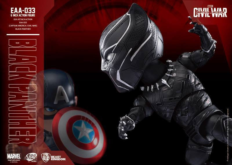 Beast Kingdom - Egg Attack Action EAA-033 - Captain America: Civil War - Black Panther - Marvelous Toys - 5