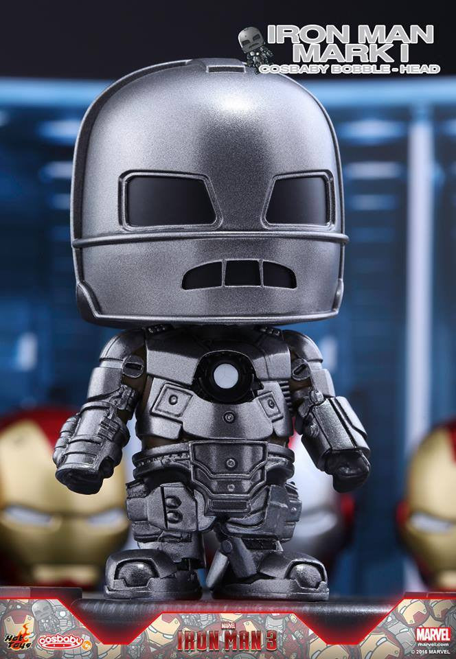 (IN STOCK) Hot Toys – COSB261 – Iron Man 3 - Iron Man Mark I Cosbaby Bobble-Head - Marvelous Toys - 1
