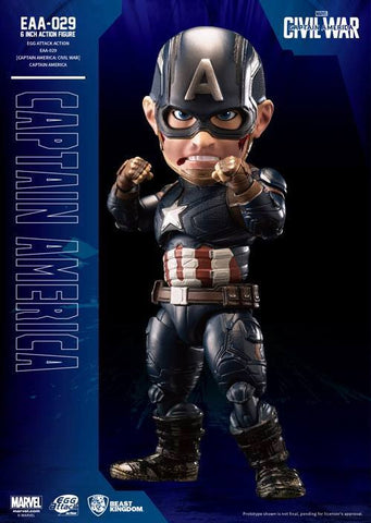 Beast Kingdom - Egg Attack Action EAA-029 - Captain America: Civil War - Captain America - Marvelous Toys - 1