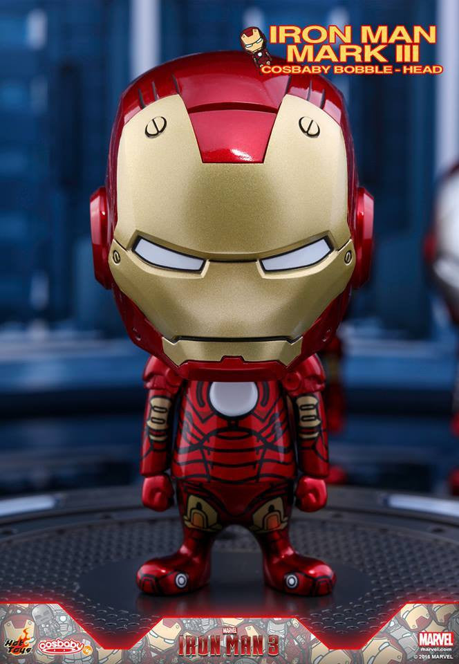 Hot Toys - COSB261-267 - Iron Man 3 - Iron Man Mark I-VII Cosbaby Bobble-Head Series Collectible Set - Marvelous Toys - 4