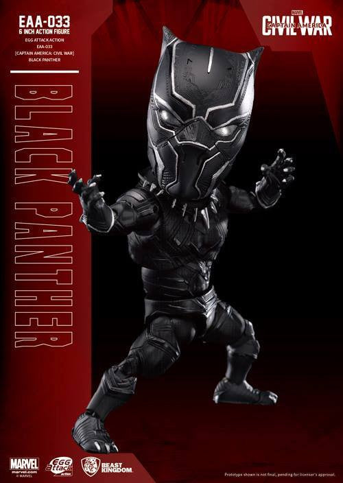 Beast Kingdom - Egg Attack Action EAA-033 - Captain America: Civil War - Black Panther - Marvelous Toys - 1