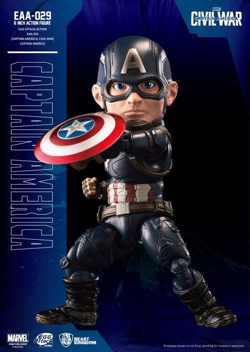 Beast Kingdom - Egg Attack Action EAA-029 - Captain America: Civil War - Captain America - Marvelous Toys - 3