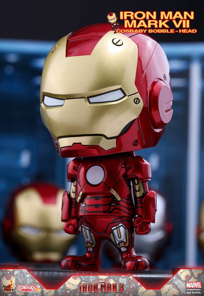 Hot Toys - COSB261-267 - Iron Man 3 - Iron Man Mark I-VII Cosbaby Bobble-Head Series Collectible Set - Marvelous Toys - 8