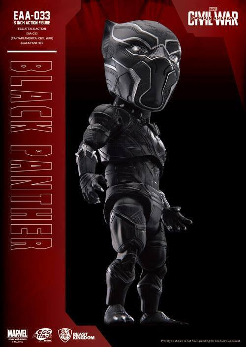 Beast Kingdom - Egg Attack Action EAA-033 - Captain America: Civil War - Black Panther - Marvelous Toys - 4