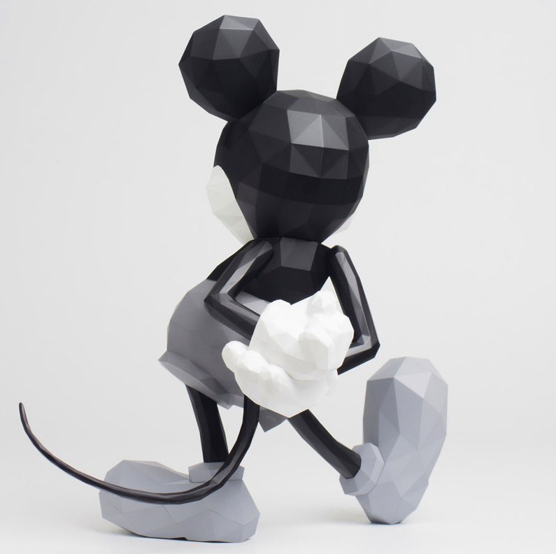 Sentinel - POLYGO Mickey Mouse Grey (Japan Version) - Marvelous Toys - 4