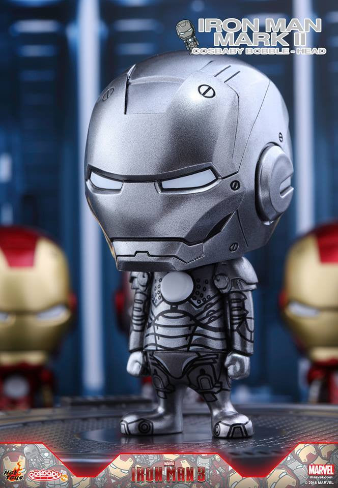 Hot Toys - COSB261-267 - Iron Man 3 - Iron Man Mark I-VII Cosbaby Bobble-Head Series Collectible Set - Marvelous Toys - 3
