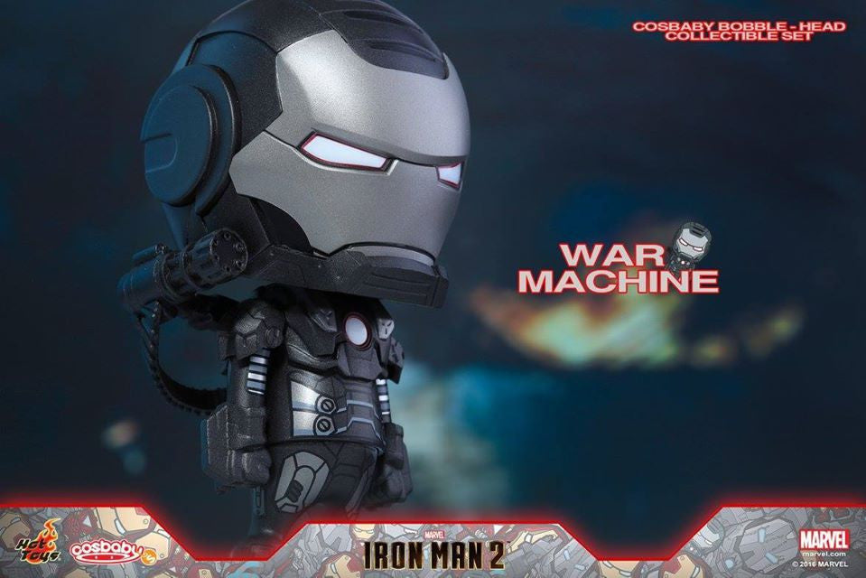 (IN STOCK) Hot Toys – COSB268 – Iron Man 2 - War Machine Cosbaby Bobble-Head - Marvelous Toys