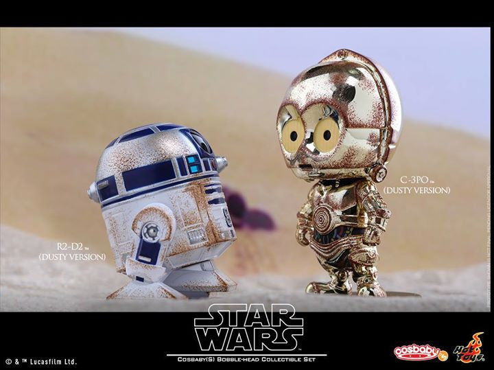 Hot Toys - COSB300 – Star Wars – C-3PO & R2-D2 (Dusty Version) Cosbaby Bobble-Head Collectible Set - Marvelous Toys - 2