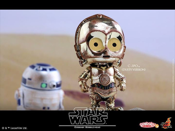 Hot Toys - COSB300 – Star Wars – C-3PO & R2-D2 (Dusty Version) Cosbaby Bobble-Head Collectible Set - Marvelous Toys - 3