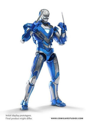 Comicave Studios - Omni Class: 1/12 Scale Iron Man Mark XXX Blue Steel - Marvelous Toys - 2
