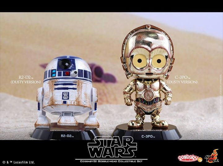 Hot Toys - COSB300 – Star Wars – C-3PO & R2-D2 (Dusty Version) Cosbaby Bobble-Head Collectible Set - Marvelous Toys - 1