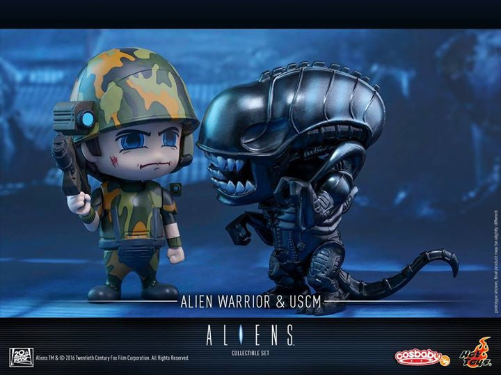 Hot Toys - COSB271 - Aliens - Alien Warrior & USCM Cosbaby Set - Marvelous Toys - 4