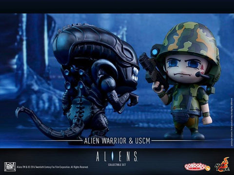 Hot Toys - COSB271 - Aliens - Alien Warrior & USCM Cosbaby Set - Marvelous Toys - 1
