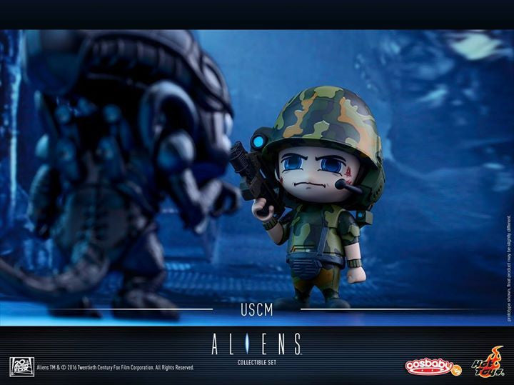 Hot Toys - COSB271 - Aliens - Alien Warrior & USCM Cosbaby Set - Marvelous Toys - 5