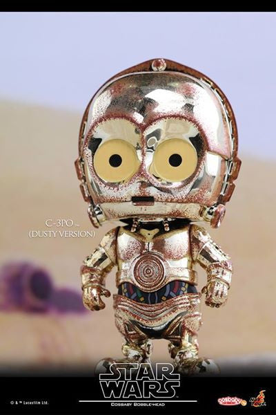 Hot Toys - COSB300 – Star Wars – C-3PO & R2-D2 (Dusty Version) Cosbaby Bobble-Head Collectible Set - Marvelous Toys - 4