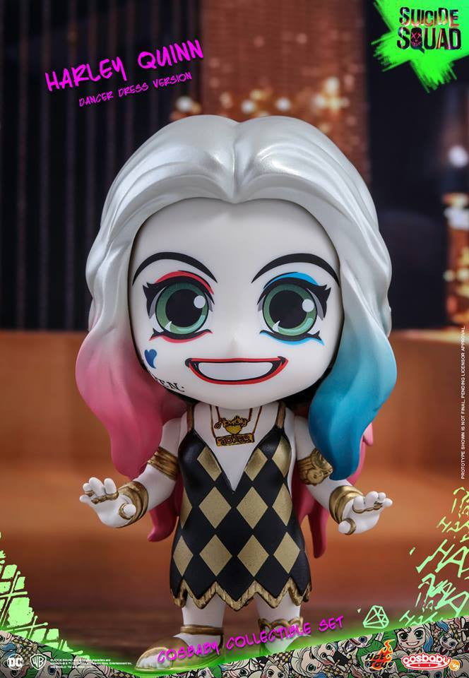 Hot Toys – COSB320 – Suicide Squad – The Joker (Light Gold Suit Version) & Harley Quinn (Dancer Dress Version) Cosbaby Collectible Set - Marvelous Toys - 3