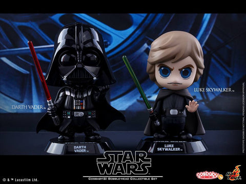 Hot Toys - COSB292 - Star Wars: Return of the Jedi - Luke Skywalker & Darth Vader Cosbaby Bobble-Head Collectible Set - Marvelous Toys - 2