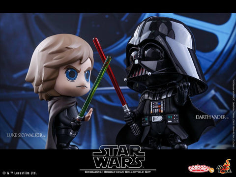 Hot Toys - COSB292 - Star Wars: Return of the Jedi - Luke Skywalker & Darth Vader Cosbaby Bobble-Head Collectible Set - Marvelous Toys - 1