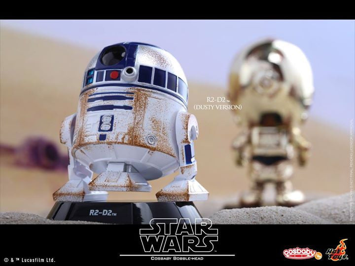 Hot Toys - COSB300 – Star Wars – C-3PO & R2-D2 (Dusty Version) Cosbaby Bobble-Head Collectible Set - Marvelous Toys - 5