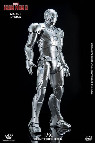 King Arts - DFS025 - Iron Man 3 - 1/9th Scale Iron Man Mark II - Marvelous Toys - 12