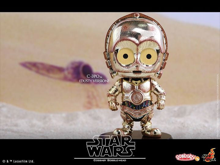 Hot Toys - COSB300 – Star Wars – C-3PO & R2-D2 (Dusty Version) Cosbaby Bobble-Head Collectible Set - Marvelous Toys - 6