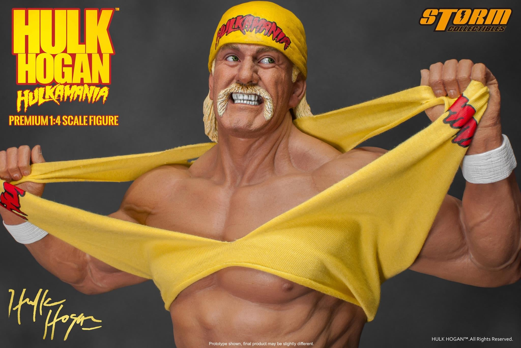 Storm Collectibles - 1/4th Scale Premium Figure - Hulk Hogan Hulkamania - Marvelous Toys - 3