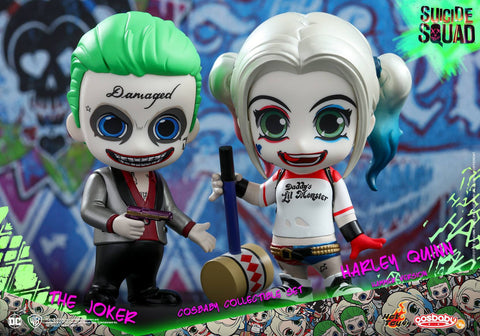 [Pre-Order] Hot Toys - COSB303 – Suicide Squad – The Joker & Harley Quinn (Hammer Version) Cosbaby Collectible Set - Marvelous Toys - 1