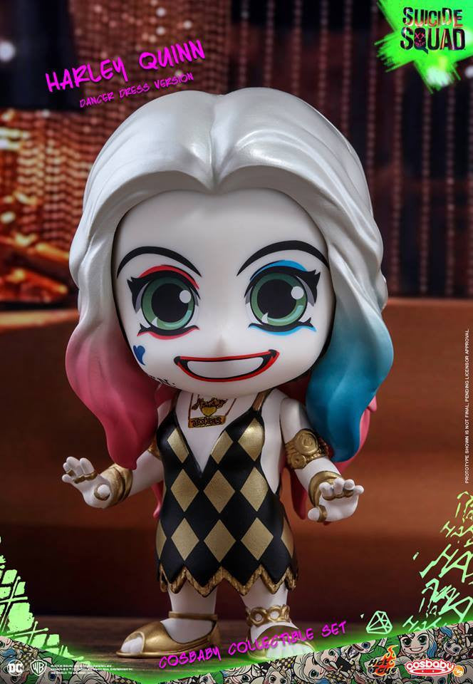 Hot Toys – COSB320 – Suicide Squad – The Joker (Light Gold Suit Version) & Harley Quinn (Dancer Dress Version) Cosbaby Collectible Set - Marvelous Toys - 5