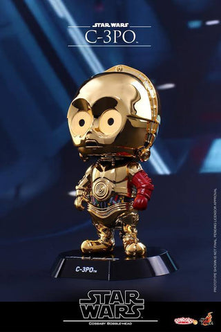 Hot Toys - COSB298 – Star Wars: The Force Awakens – C-3PO Cosbaby Bobble-Head - Marvelous Toys
