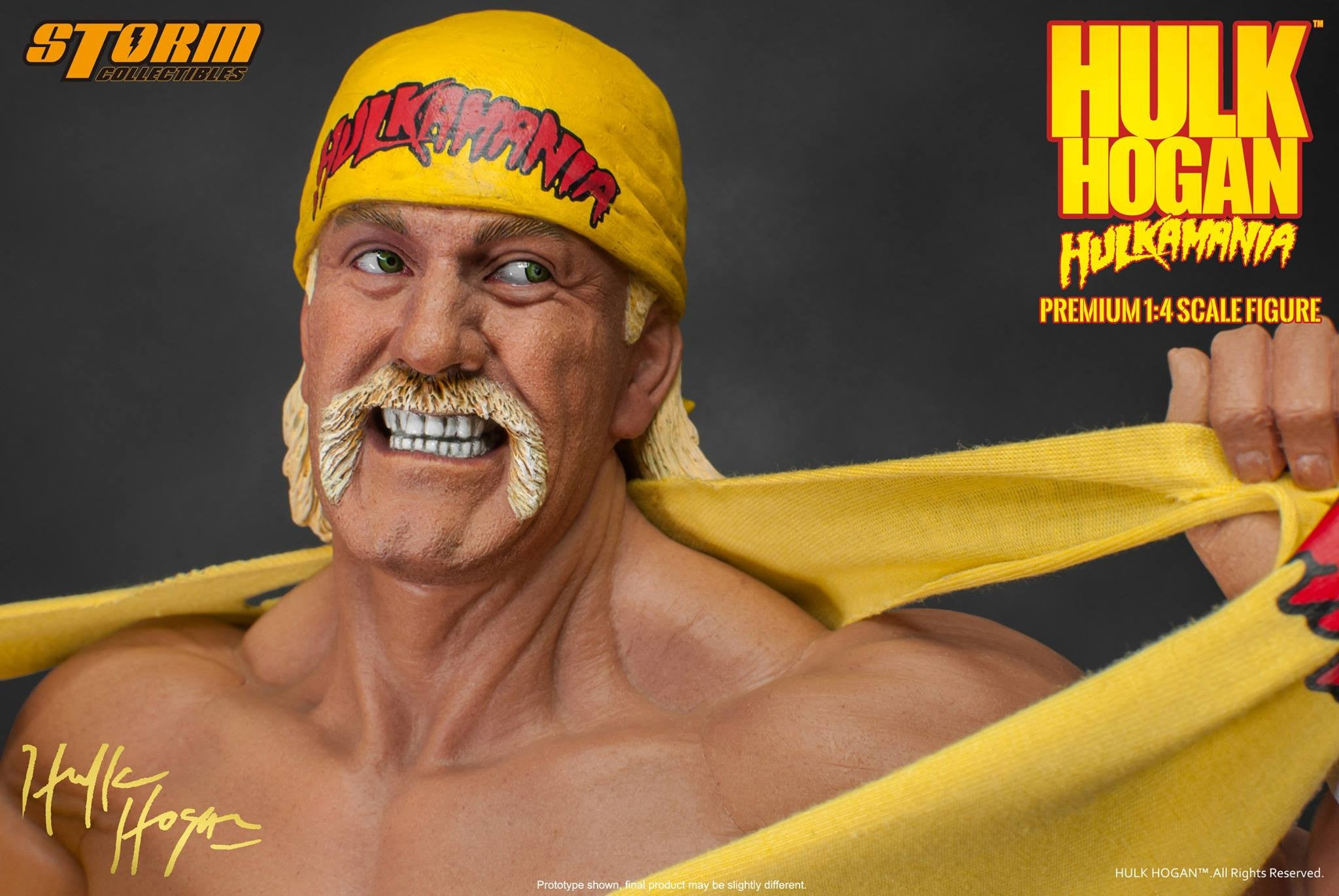 Storm Collectibles - 1/4th Scale Premium Figure - Hulk Hogan Hulkamania - Marvelous Toys - 4