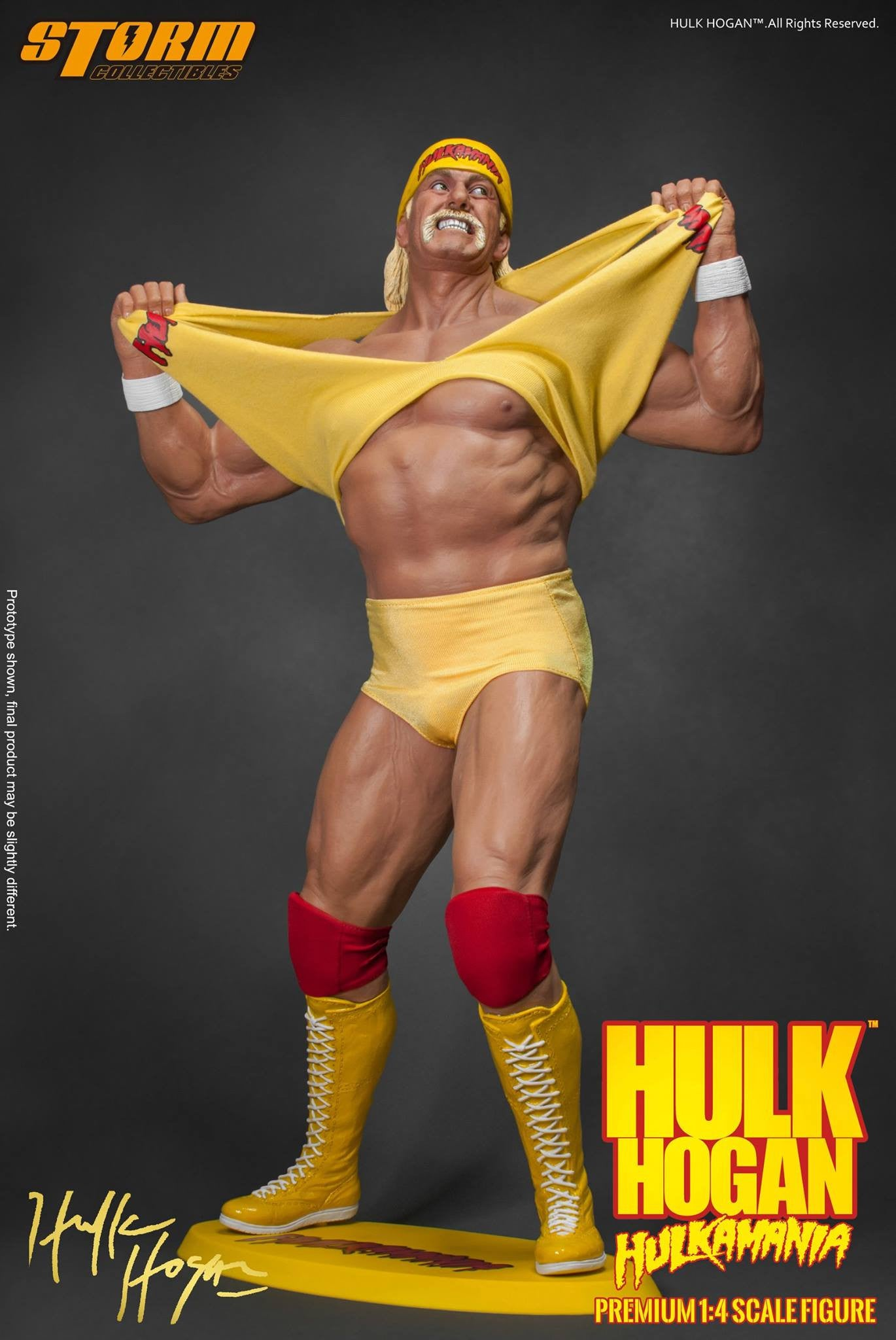 Storm Collectibles - 1/4th Scale Premium Figure - Hulk Hogan Hulkamania - Marvelous Toys - 5