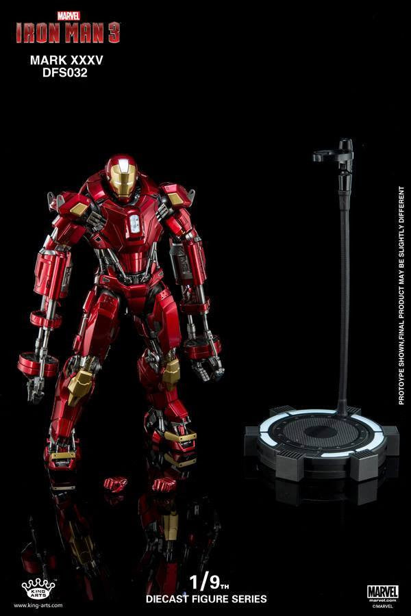 King Arts - DFS032 - Iron Man 3 - 1/9th Scale Iron Man Mark XXXV (Red Snapper) - Marvelous Toys - 11