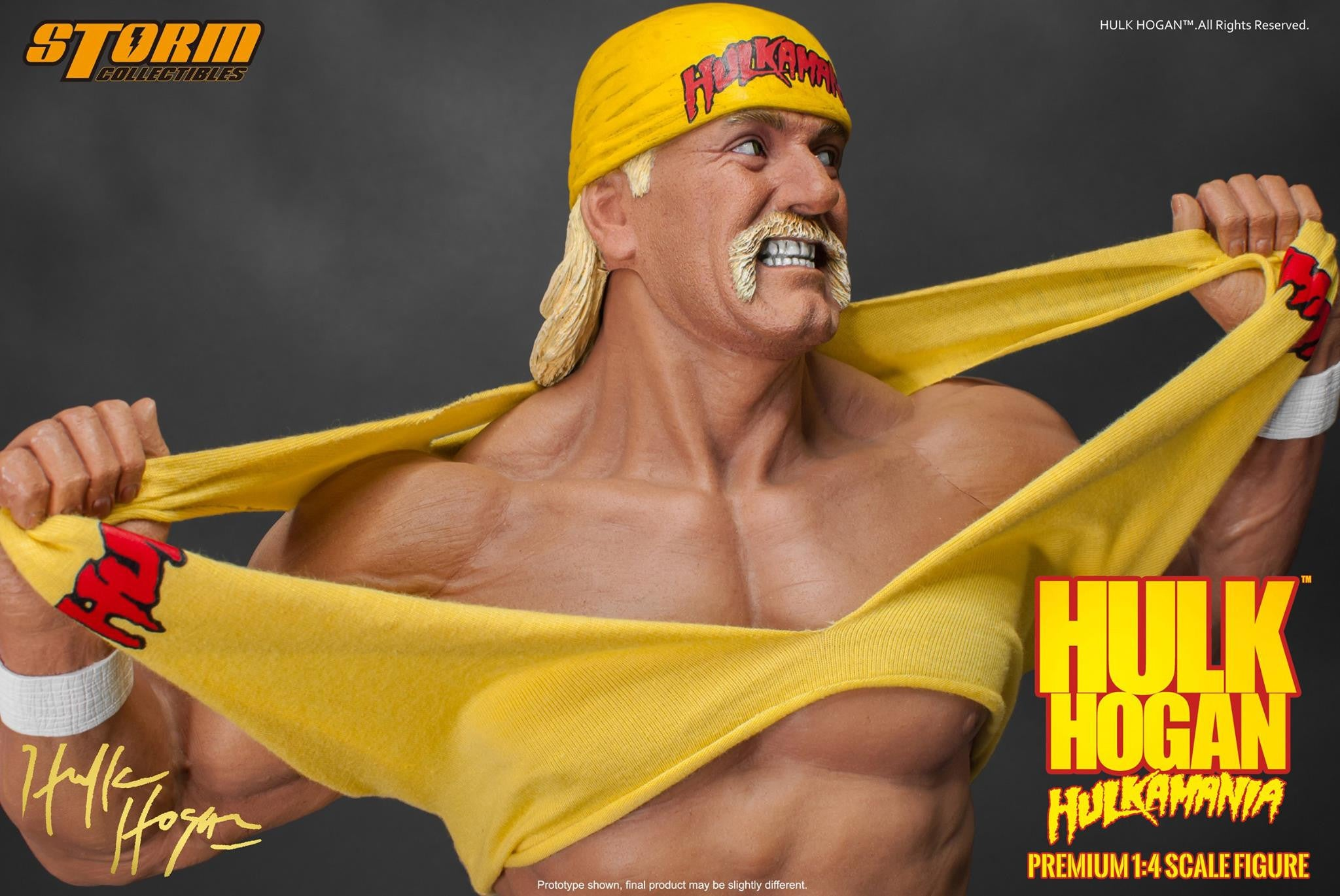 Storm Collectibles - 1/4th Scale Premium Figure - Hulk Hogan Hulkamania - Marvelous Toys - 6