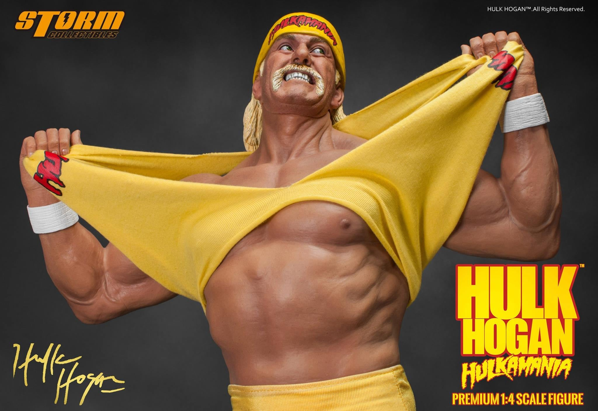 Storm Collectibles - 1/4th Scale Premium Figure - Hulk Hogan Hulkamania - Marvelous Toys - 7