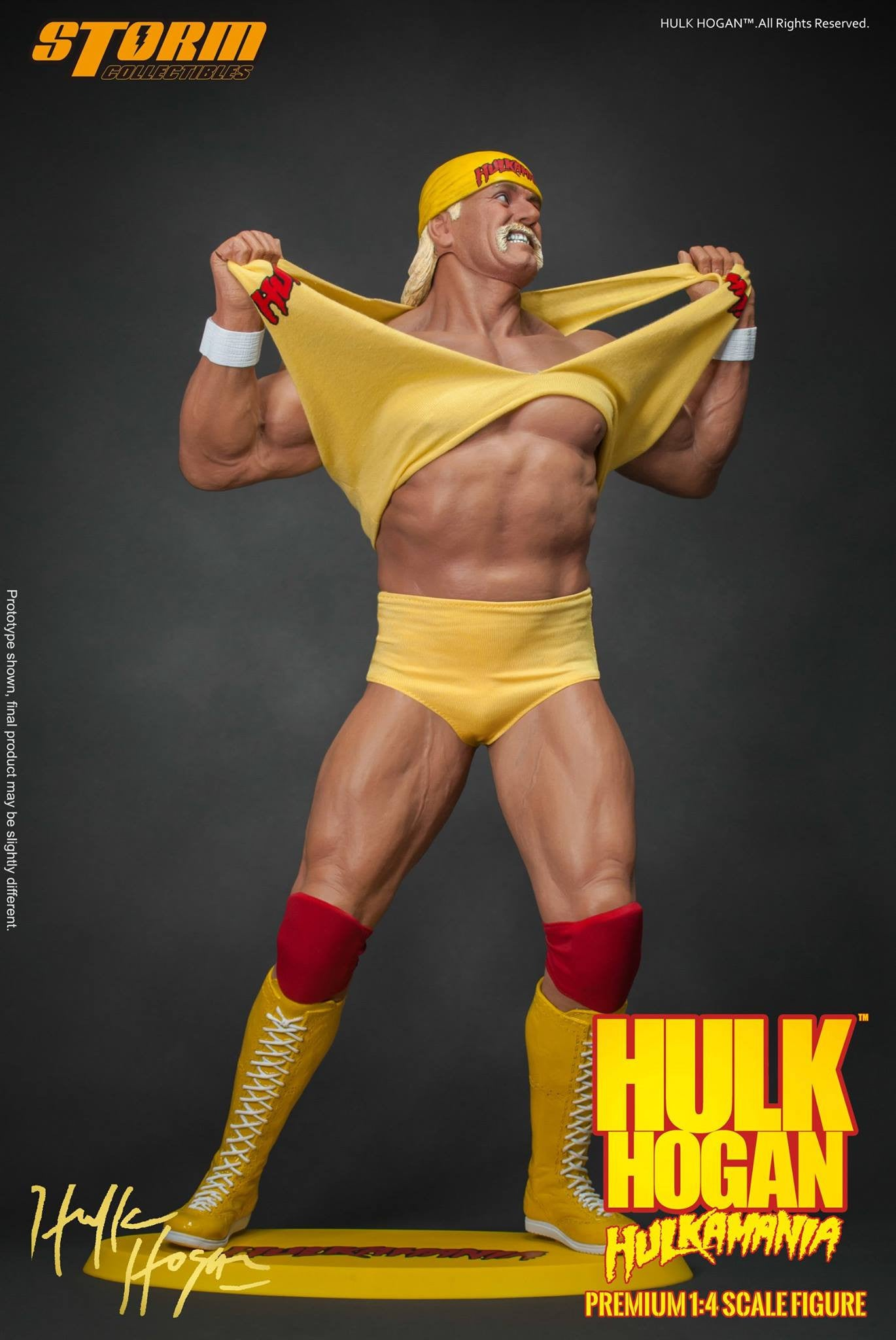 Storm Collectibles - 1/4th Scale Premium Figure - Hulk Hogan Hulkamania - Marvelous Toys - 8