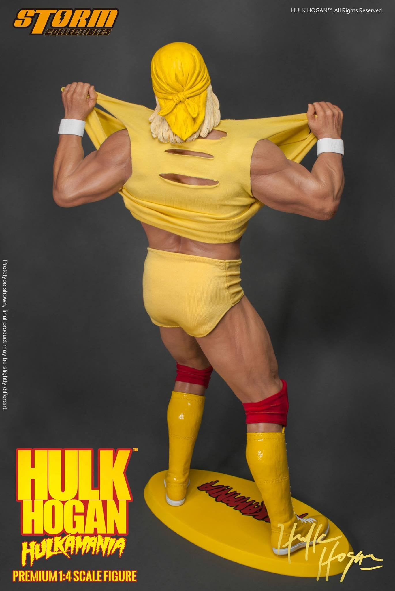Storm Collectibles - 1/4th Scale Premium Figure - Hulk Hogan Hulkamania - Marvelous Toys - 11