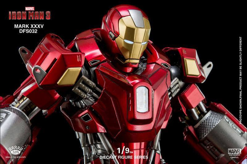 King Arts - DFS032 - Iron Man 3 - 1/9th Scale Iron Man Mark XXXV (Red Snapper) - Marvelous Toys - 3