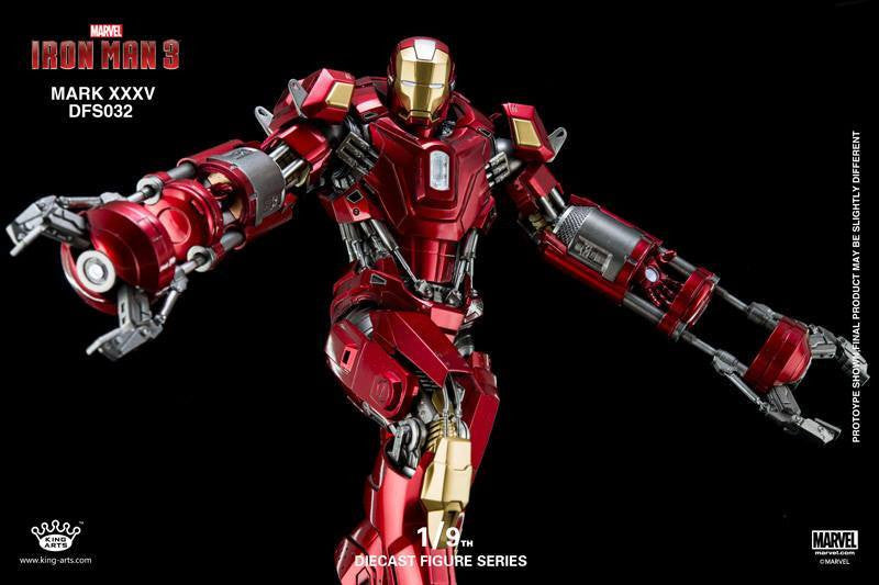King Arts - DFS032 - Iron Man 3 - 1/9th Scale Iron Man Mark XXXV (Red Snapper) - Marvelous Toys - 2
