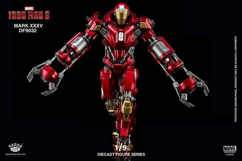 King Arts - DFS032 - Iron Man 3 - 1/9th Scale Iron Man Mark XXXV (Red Snapper) - Marvelous Toys - 4