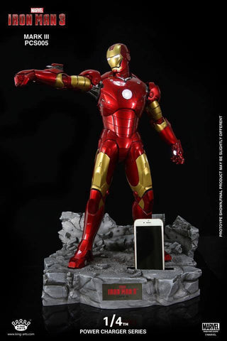 King Arts - Power Charger Series PCS005 - Iron Man 3 - 1/4th Scale Mark III Charger - Marvelous Toys - 1