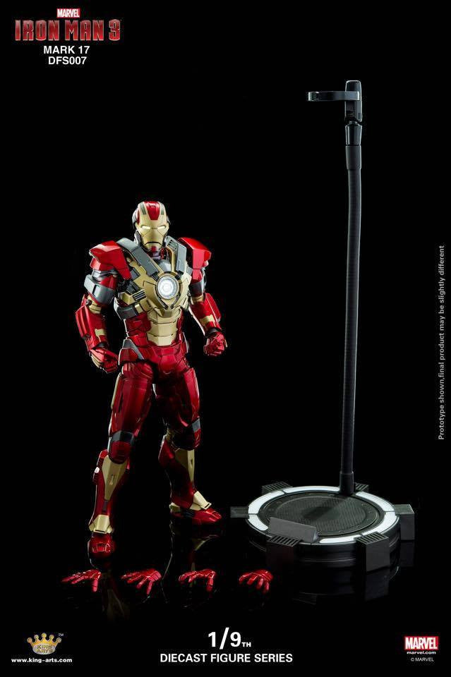 King Arts - DFS007 - Iron Man 3 - Iron Man Mark XVII (Heartbreaker) - Marvelous Toys - 1
