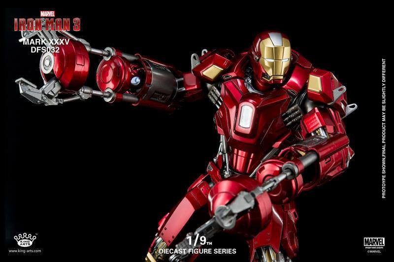 King Arts - DFS032 - Iron Man 3 - 1/9th Scale Iron Man Mark XXXV (Red Snapper) - Marvelous Toys - 5