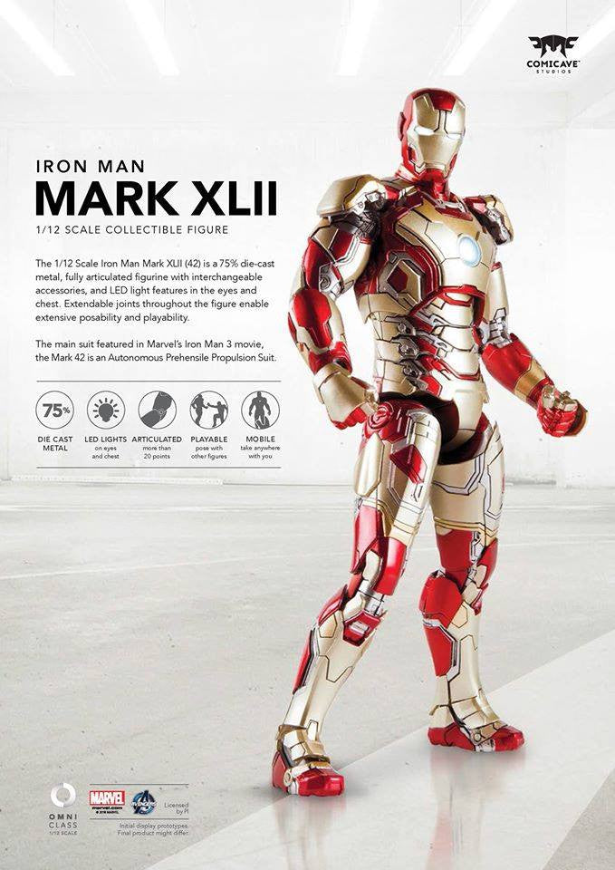 Comicave Studios - Omni Class: 1/12 Scale Iron Man Mark XLII with Sofa (SDCC 2016 EXCLUSIVE) - Marvelous Toys - 4