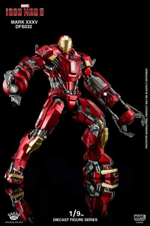 King Arts - DFS032 - Iron Man 3 - 1/9th Scale Iron Man Mark XXXV (Red Snapper) - Marvelous Toys - 6