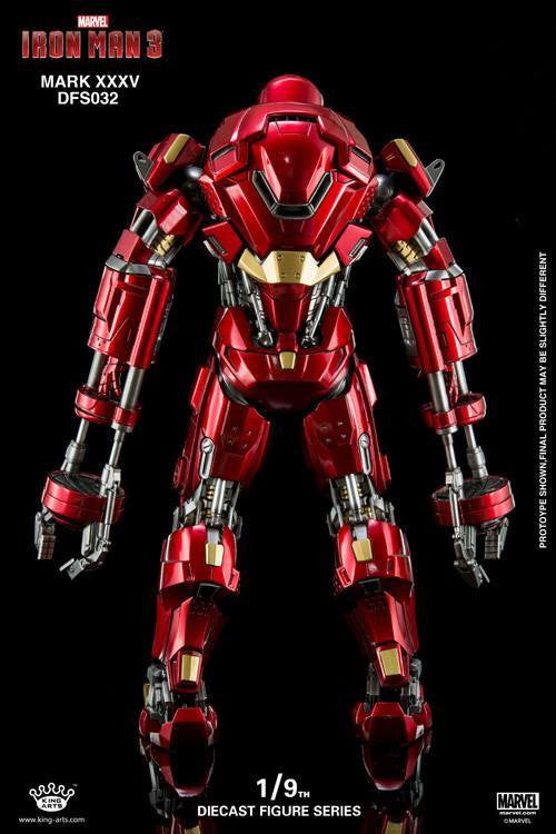 King Arts - DFS032 - Iron Man 3 - 1/9th Scale Iron Man Mark XXXV (Red Snapper) - Marvelous Toys - 7