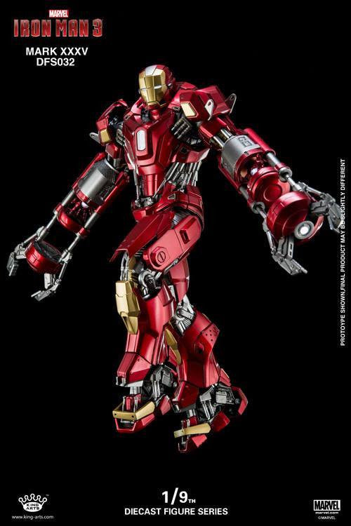 King Arts - DFS032 - Iron Man 3 - 1/9th Scale Iron Man Mark XXXV (Red Snapper) - Marvelous Toys - 8