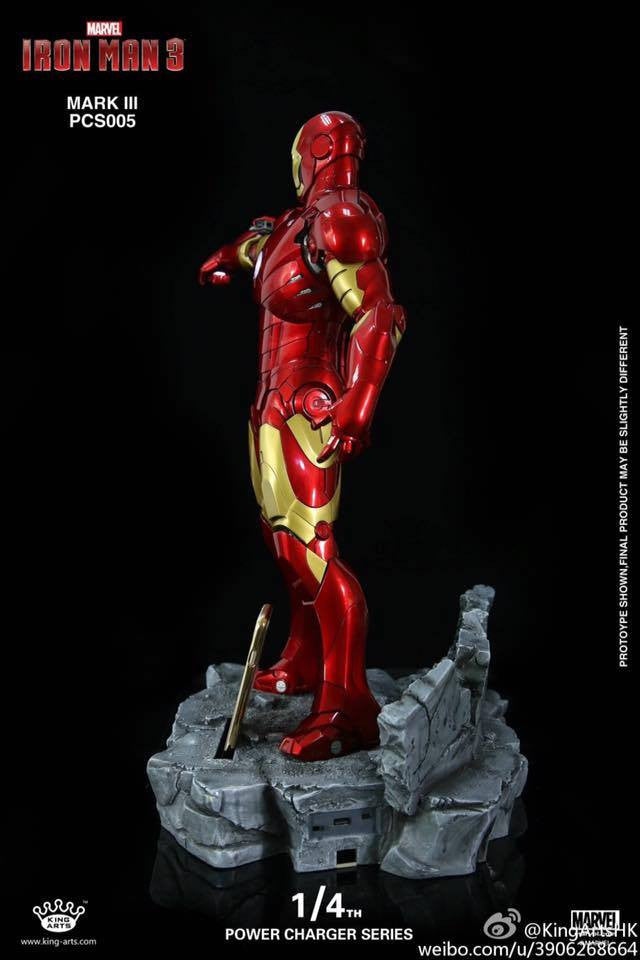 King Arts - Power Charger Series PCS005 - Iron Man 3 - 1/4th Scale Mark III Charger - Marvelous Toys - 2