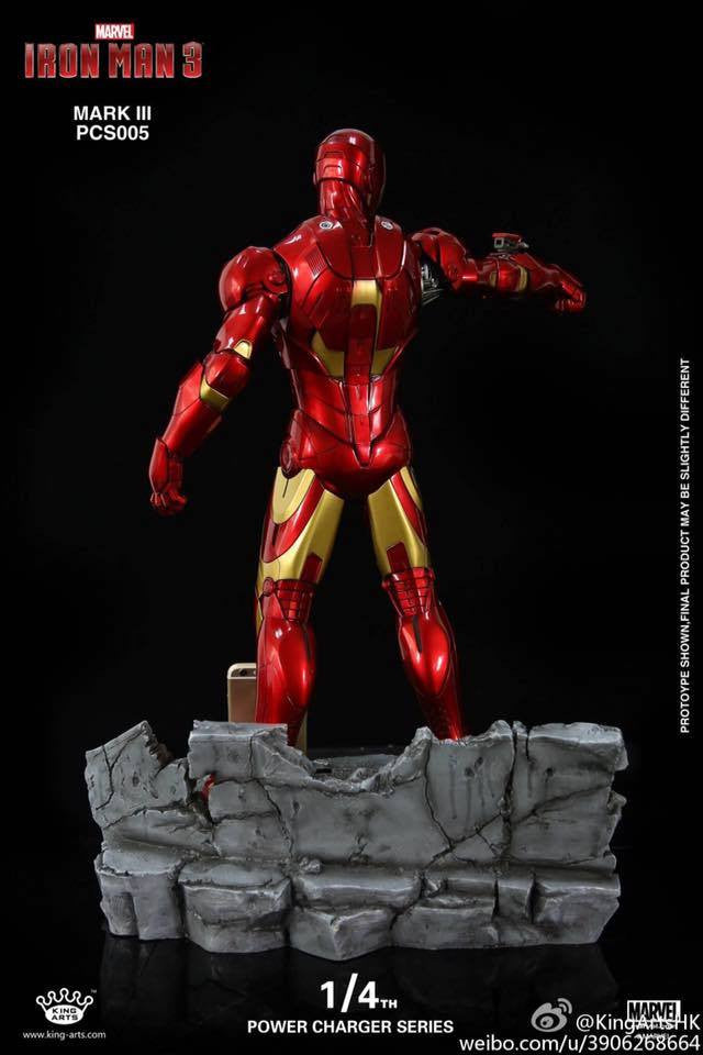 King Arts - Power Charger Series PCS005 - Iron Man 3 - 1/4th Scale Mark III Charger - Marvelous Toys - 3